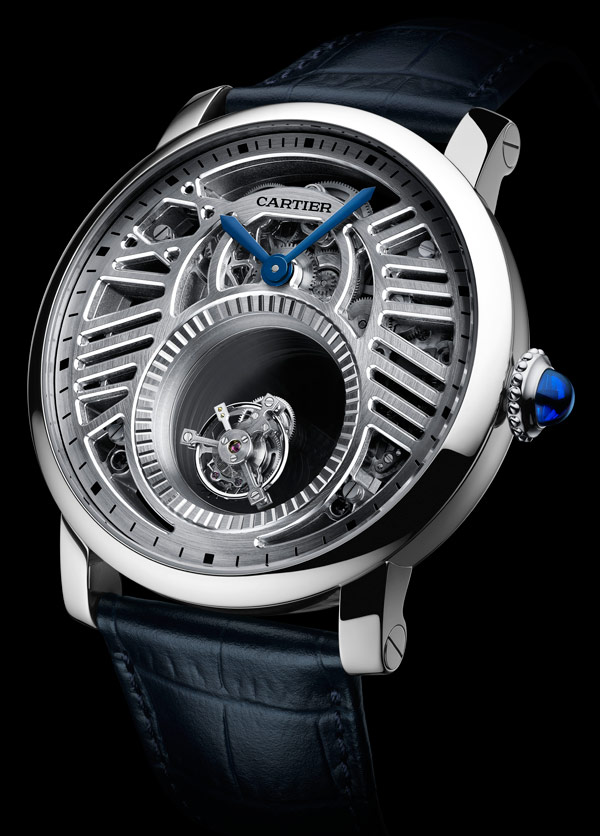 Rotonde de Cartier Mysterious Double Tourbillon Skeleton Replica